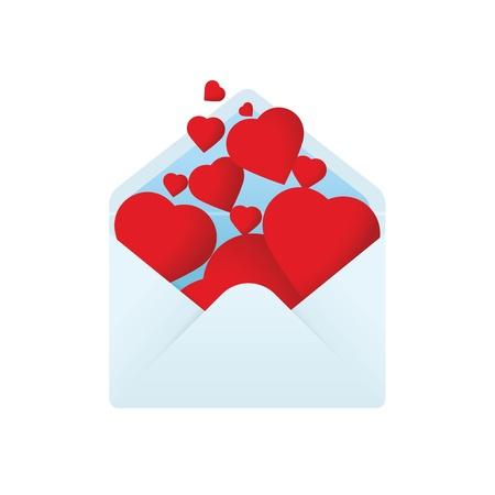 Envelope with filled hearts Stock Vector - 17170805