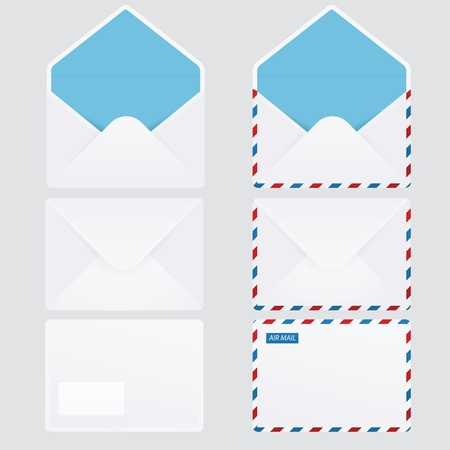letter envelope: Set of 6 glossy envelopes