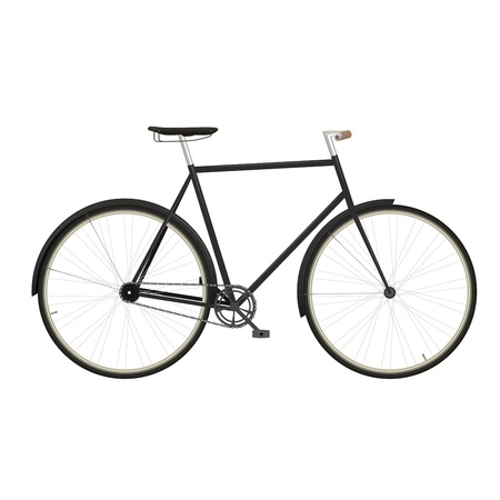 bicycling: Vintage men s bicycle isolated on white background Illustration