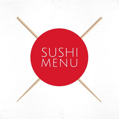 Japanese cuisine restaurant sushi menu cover template