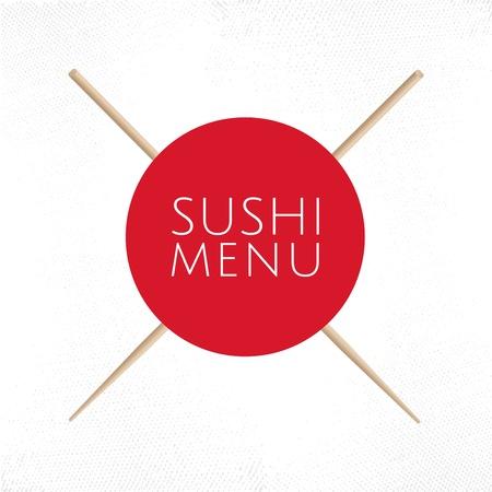 Japanse keuken restaurant sushi menu deksel sjabloon