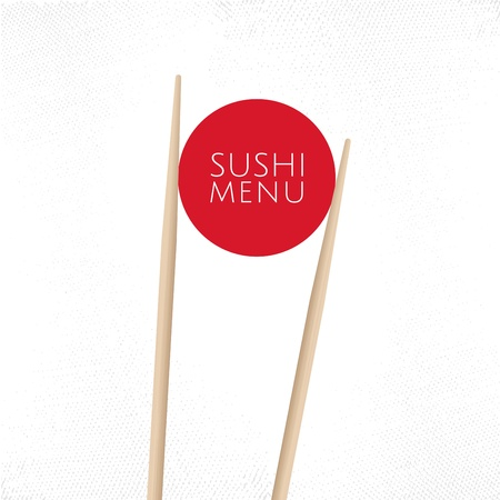 chopstick: Japanese cuisine restaurant sushi menu cover template