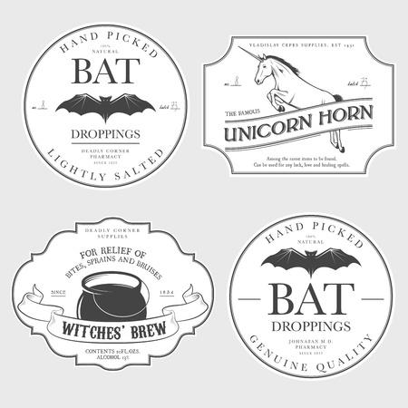 pocion: Añada etiquetas divertidas poción de Halloween