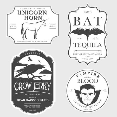 elixir: Añada etiquetas divertidas poción de Halloween