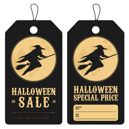 Halloween special sale price tags Illustration