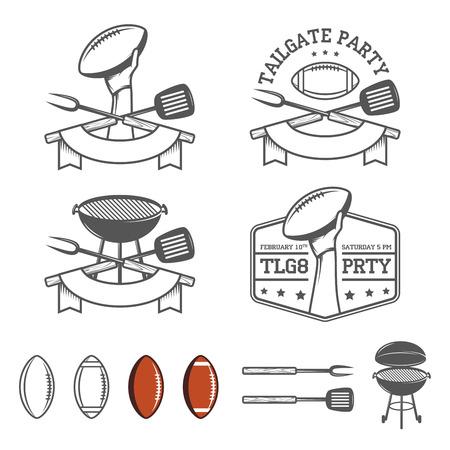 pelota rugby: Elementos de diseño de la puerta posterior del partido establecen