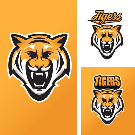 silueta tigre: Tigre mascota de equipos deportivos