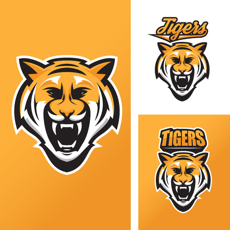 tigre caricatura: Tigre mascota de equipos deportivos