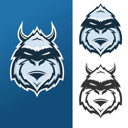 Yeti mascot for sport teams Vector