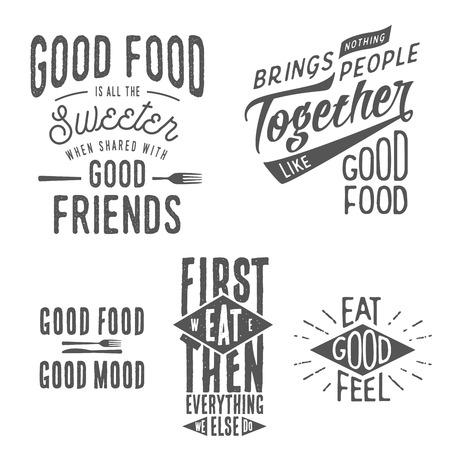 aliments droles: Vintage alimentaire des citations typographiques li�es Illustration