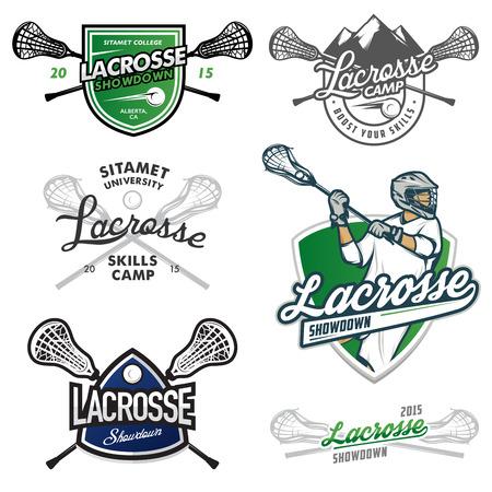 Set of lacrosse events design elements
