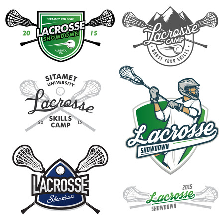 Set of lacrosse events design elements