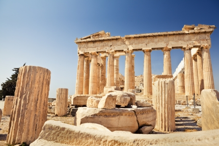 Parthenon on Acropolis in Athens photo