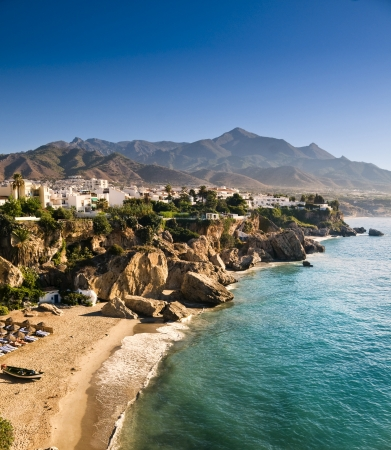 A little beach in Andalucia in the morning Stock Photo - 17991832