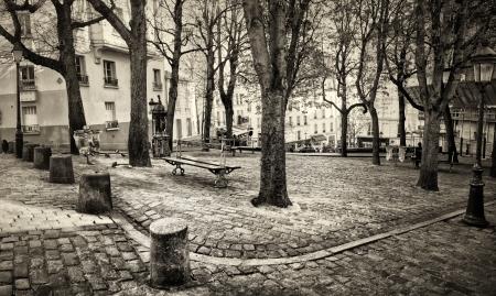 Place Emile Goudeau a Montmartre, Parigi, Francia