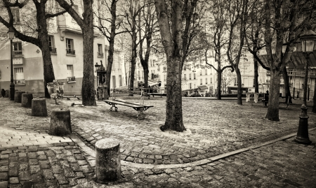 Place Emile Goudeau in Montmartre, Paris, France  Stock Photo