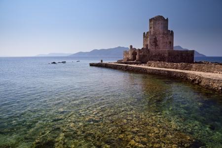 Fortezza ottomana in Methoni Grecia