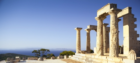 antiquity: Greek temple on Aegina Island