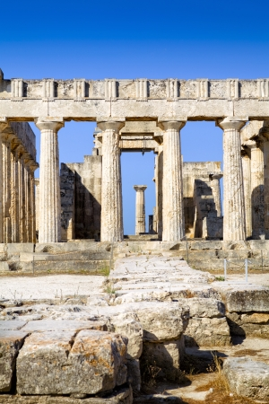 Greek temple on Aegina Island photo