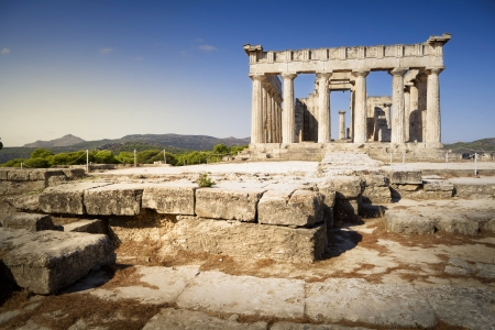 Greek temple on Aegina Island