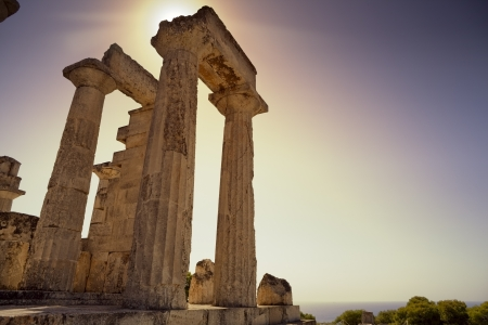 Greek temple on Aegina Island Stock Photo - 19445859