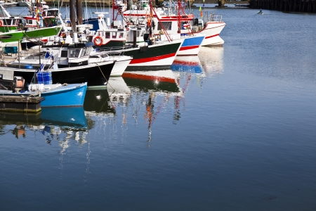 Pescherecci ormeggiati a Saint Jean de Luz porto in Francia