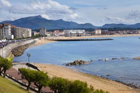 Saint Jean de Luz in spiaggia Paesi Baschi, Francia