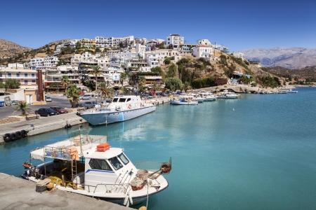 mooring: Fishing boat in Agia Galini on Crete Island, Greece