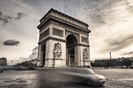 Arco di Trionfo a Place de l'Etoile di Parigi, Francia