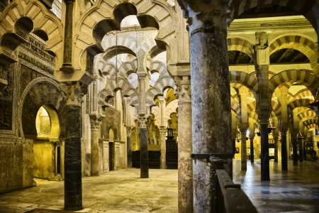 Inside the Mezquita in Cordoba, Spain