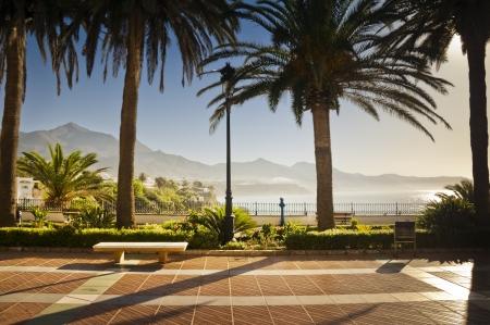 nerja: Nerja promenade in Andalusia, Spain