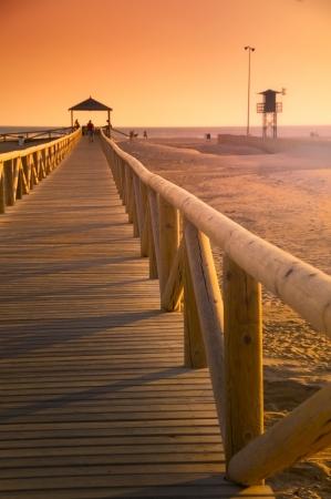 La spiaggia di Conil de la Frontera, Andalusia, Spagna