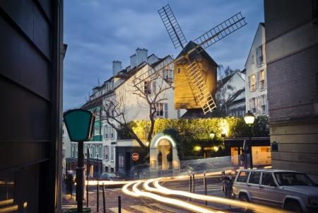 Moulin de la Galette in Montmartre, Paris, France Stock Photo