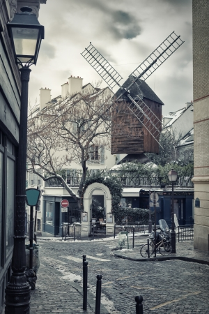 Moulin de la Galette in Montmartre, Paris, France Stock Photo