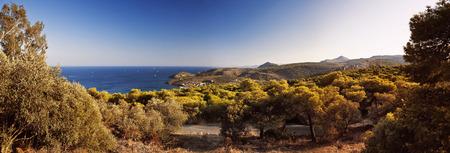 Isola di Egina orizzonte vicino a Agia Marina, Grecia