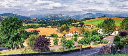 pays: Countryside outside Saint Jean Pied de Port in Pays Basque, France
