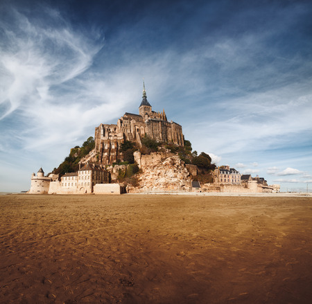 Mont saint Michel in Normandy, France Stock Photo