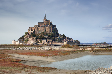 mont saint michel: Mont Saint Michel in Normandy, France Stock Photo