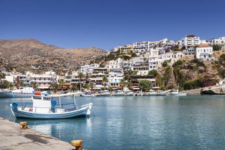 Agia Galini harbor on Crete Island in Greece Фото со стока