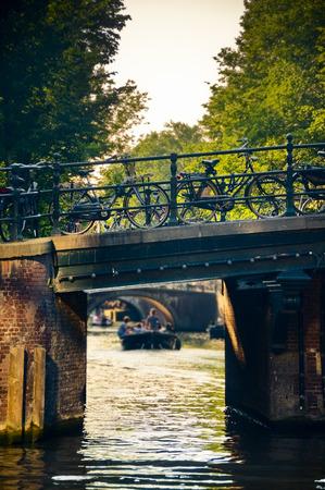 Bridge e canale di Jordaan, Amsterdam, Paesi Bassi
