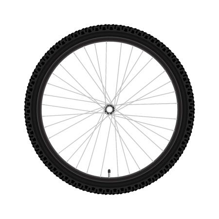 vecteur vélo roue roue de bicyclette très détaillée