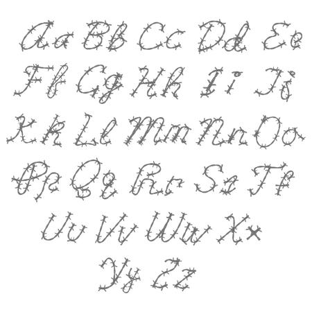 Alphabet lettering. Illustration