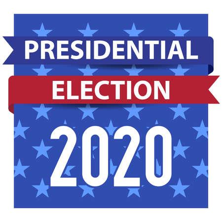 2020 United States presidential election square emblem. Vector illustration.