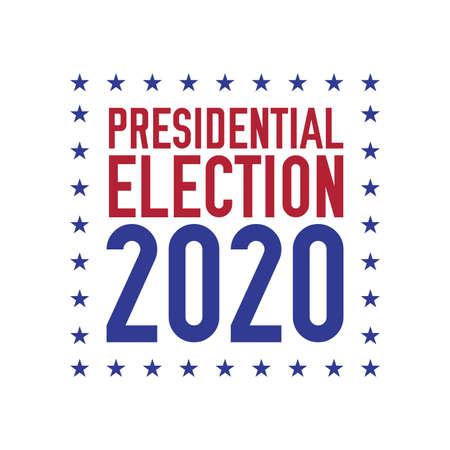 Presidential election 2020 emblem design. 2020 United States presidential election. Vector illustration.