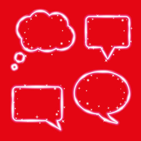 A cloud of thought, chat bubbles. Magic design elements set. Vector illustration.
