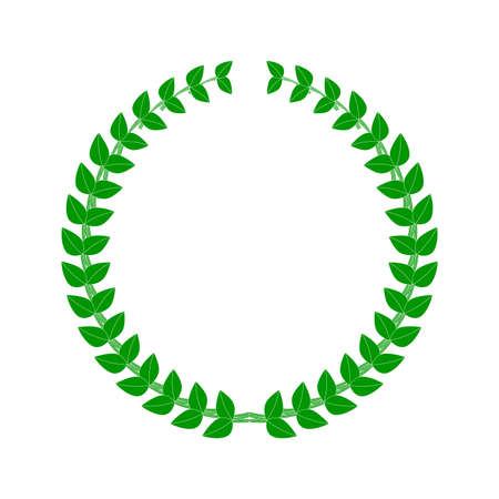 Laurel wreath. Flat vector illustration isolated on white.