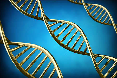 dna helix: 3D DNA helix background. Stock Photo