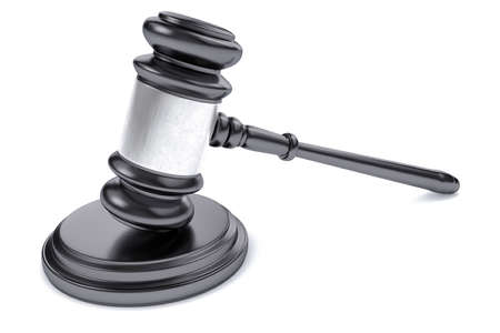 legality: 3D Law or Judge Concept Hammer.