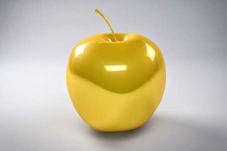 rich in vitamins: 3D Golden Apple