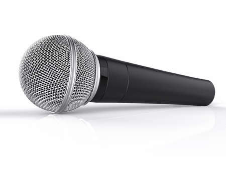 render: 3D Render Black Music Microphone